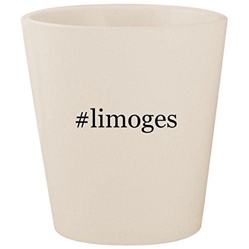 #limoges - White Hashtag Ceramic 1.5oz Shot Glass -
