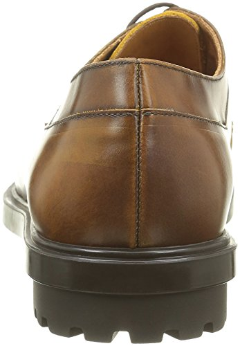 JOE PAUL Veau Chaussures Marron Tdm Abrasivato Lacées Indian Homme amp; TT0q6x5