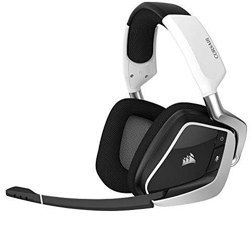 System Headset Bluetooth Usb (CORSAIR Void PRO RGB Wireless Gaming Headset - Dolby 7.1 Surround Sound Headphones for PC - Discord Certified - 50mm Drivers - White)
