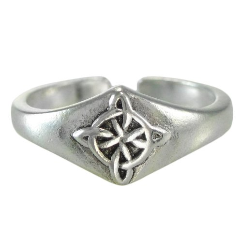 (Sterling Silver Celtic Quaternary Witches Knot Toe or Pinky Ring Body)