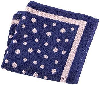 (ザ・スーツカンパニー) imabari towel/ドット柄 今治ハンドタオル ピンク×ネイビー