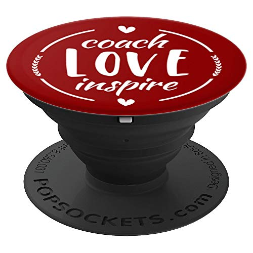 Cheer Coach Gift Maroon Cheerleading - PopSockets Grip and Stand for Phones and Tablets