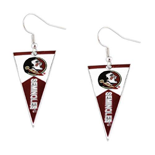 - NCAA Florida State Seminoles Pennant EarringsPennant Earrings, Team Color, 2.5