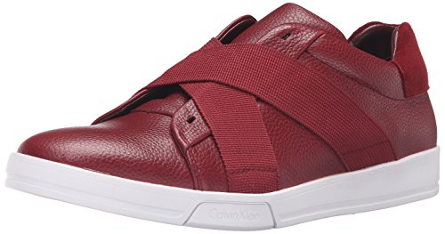 Calvin Klein Men's Baku Fashion Sneaker, Red, 10.5 M US