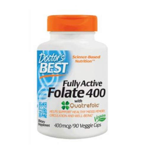 Best Fully Active Folate, 400 mcg, 90 vcaps (Pack of 2)