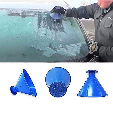 f/ür die Windschutzscheibe magischer Schnee-Entferner Trichter in Form eines Kegels Tradtrust Eiskratzer tragbar blau