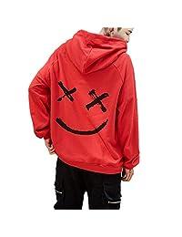 MIOIM Men/Women Hoodies Sweatshirts Smile Print Hip Hop Hoodie Streetwear Pullover