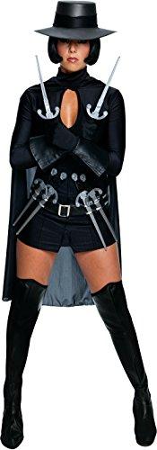 [Secret Wishes Womens V for Vendetta Costume, Black, Medium] (Female Vendetta Costume)