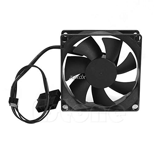 TH-ELECCOMPO Hydro Bearing 7 Plastic Blades 4 Pin 12V DC 80x80x25mm Compuer Fan Cooler Brushless Cooling Blower Fan for Computer Z09