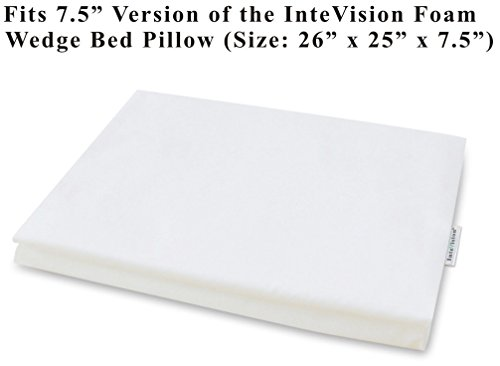 Cotton Wedges (InteVision 400 Thread Count, 100% Egyptian Cotton Pillowcase. Designed to Fit the 7.5