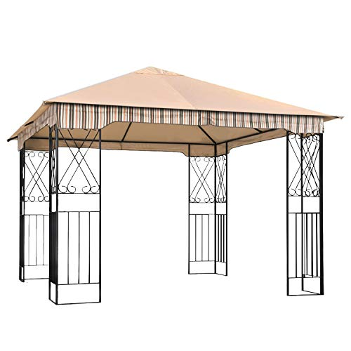 ABCCANOPY Garden Gazebo Replacement Canopy 10' x 10' Soft Top for 10' x 10' Gazebo Model L-GZ730PST-C1 Beige(only Roof)
