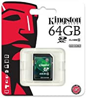 Kingston SDX10V/64GB - Tarjeta de Memoria de 64 GB (UHS-I SDHC/SDXC, Clase 10), Negro