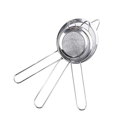 (Fine Mesh Stainless Steel 3 Size Tea Strainer - Tea Infuser for Loose Leaf Tea Tea Filter - 3 Pack Cocktail Stainless Steel Conical Strainer - Best Gift Idea)