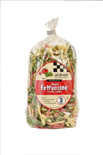 (Al Dente Fiesta (tri color) Fettuccine, 12-Ounce Bag (Pack of 6))