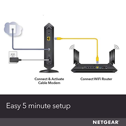 NETGEAR Cable Modem CM1000 - Compatible with all Cable Providers including  Xfinity by Comcast, Spectrum, Cox | For Cable Plans Up to 1 Gigabit |