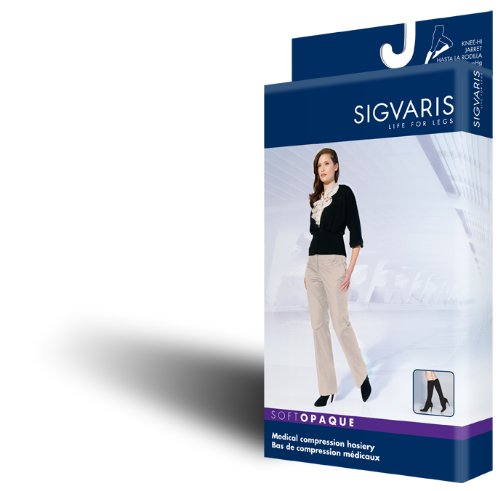 Sigvaris Women's SOFT OPAQUE 840 Closed Toe Thigh High w/...