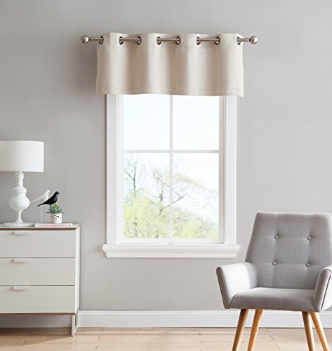 Nicole - 1 StraightValance Curtain Panel - Premium Grommet Blackout - 54 inch Wide x 18 Long - Solid Thermal Insulated Draperies - Ideal for Any Room and Bedroom (1 Valance 54x18, Ivory) ()
