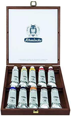 Schmincke Norma Professional 71 709 097 - Caja de pinturas al óleo (10 unidades, 35 ml): Amazon.es: Jardín
