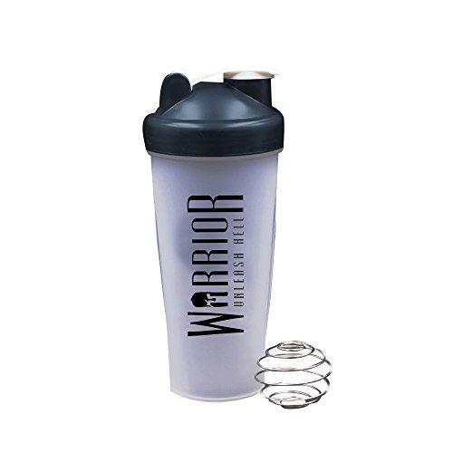 Warrior Supplements 7091 Protein Shaker Bottle 600ml – Mixball Shake Blender