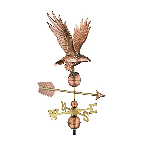 Good Directions Freedom Eagle Weathervane, Pure Copper