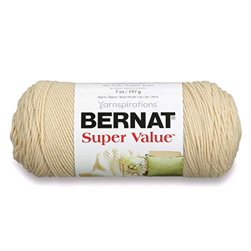 Bernat Super Value Yarn, 7 oz, Gauge 4 Medium Worsted, Oatmeal