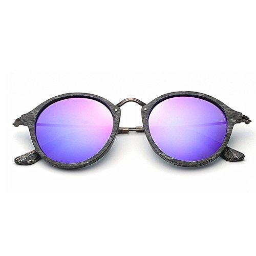 de de de las Gafas gato de mujeres de gafas de sol ojos de sol Retro madera Lente de Gafas de sol Púrpura polarizadas c marco Gafas la sol de Gafas de UV sol los hombres unisex del colorida para la protección xqfxwAOBY