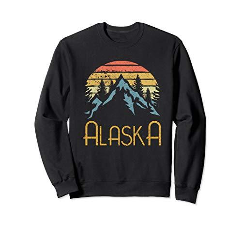 Vintage AK, Alaska Mountains Outdoor Adventure Sweat Shirt