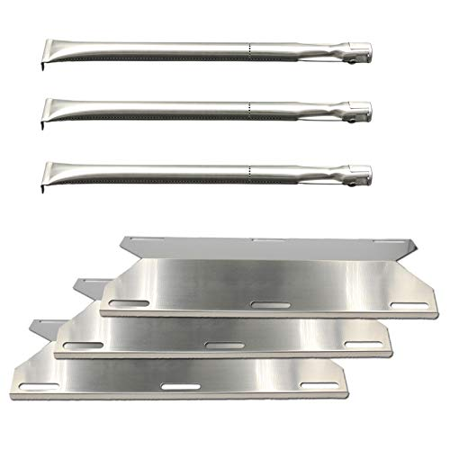 Sterling Grill Parts - Uniflasy (3-Pack Stainless Steel Gas Grill Repair Replacement Parts Kit Burners & Heat Plate for Charmglow Home Depot 3 Burner, 720-0230, 720-0036-HD-05, Sterling Forge 720-0016