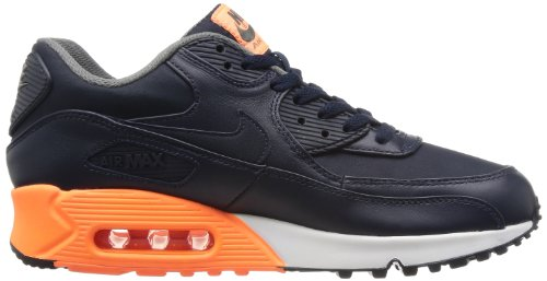 Nike Men's Air Max 90 Essential Trainers Multicoloured (Dark Obsidian, Mid Base Grey)