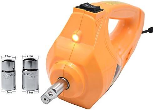Recommander YASI MFG KFZ Clé à chocs électrique 12 V 480 N.M avec douilles 17/19 m et 21/23 mm Jaune  FMWuP