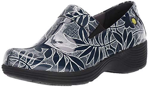 Dansko Women's Coral Clog, Navy Floral Patent, 37 M EU (6.5-7 US) (Slip Resistant Dansko Shoes)