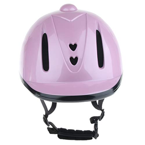 - DYNWAVE Horse Riding Safety Helmet Schooling Protective Gear for Equestrian Riders - CE Certified - Pink, S