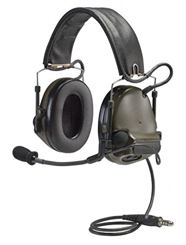 (3M Peltor ComTac III Electronic Headset FB Single Comm NATO Olive Drab MT17H682FB-47 GN)
