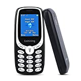 USHINING Unlocked Feature Phone with Torch 2G GSM Phone Easy to Use Mobile Phone T-Mobile Carrier (Black)