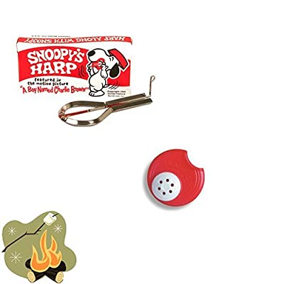 camping toys Campfire Music Pack - Summer Fun Pack with Snoopy Jaw Harp & Red Humazoo: Toys & Games