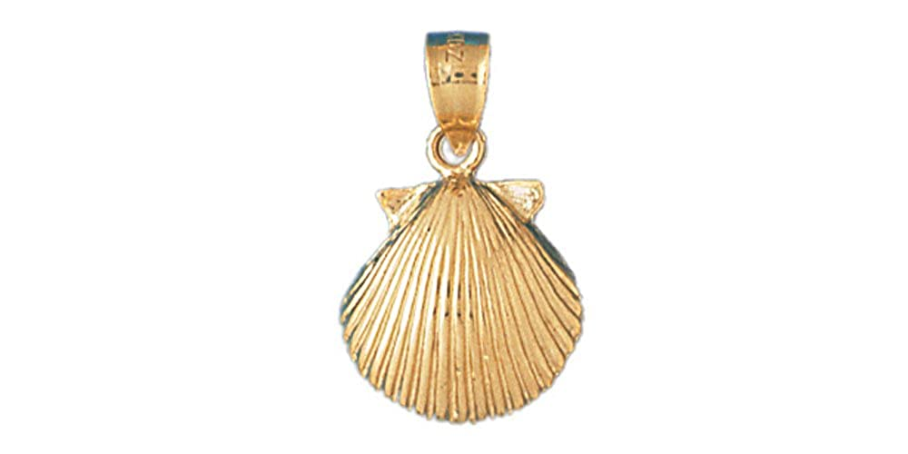 12mm x 20mm 14k Yellow Gold Shell Pendant