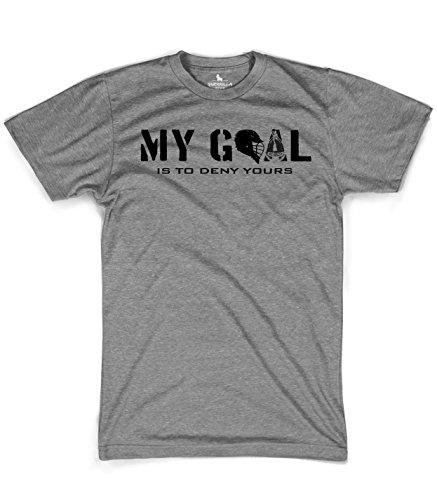 My goal Lacrosse tshirt, Grey, Small (Johns Hopkins Shirt)