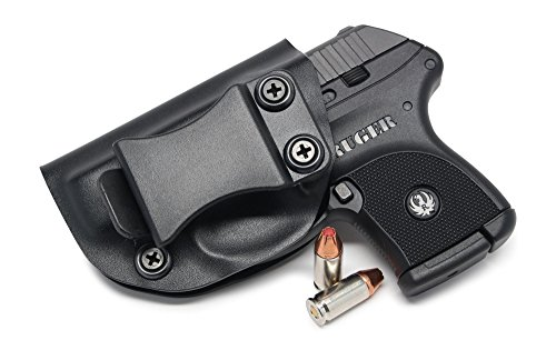 Concealment Express IWB KYDEX Holster: fits Ruger LCP 380 - US Made - Inside Waistband Holster - Adj. Cant & Retention (Black - Left Hand)