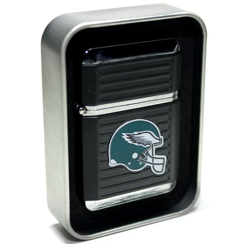 NFL Philadelphia Eagles Refillable Butane Torch Lighter with Tin Gift Box - Factory New - 2 1/4 Inch Height