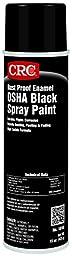 CRC Rust Proof Enamel Spray Paint, 15 oz Aerosol Can, OSHA Black