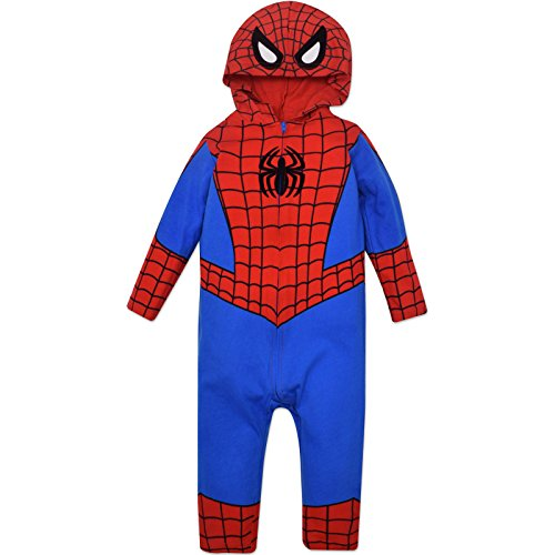 Halloween Marvel Costumes (Marvel Spiderman Baby Costume Coverall with Hood (18-24 Months))