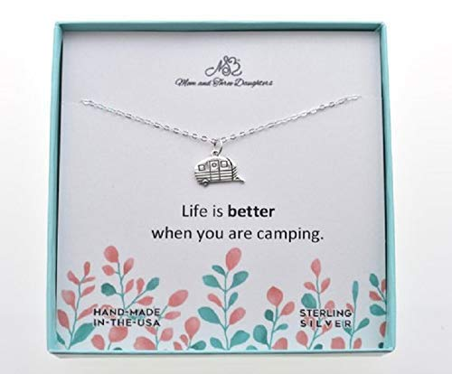 Camper charm pendant on an 18