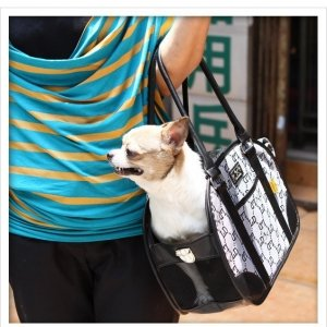 ANUSA Dog bag cat dog bag black LD Size: 32 15 24cm by ANUSA (Image #2)