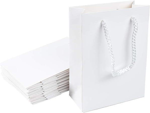 Livre Blanc Sacs avec poignées Petite Grande 100 50 10 Pour Cadeau Sweet Party Transporteur
