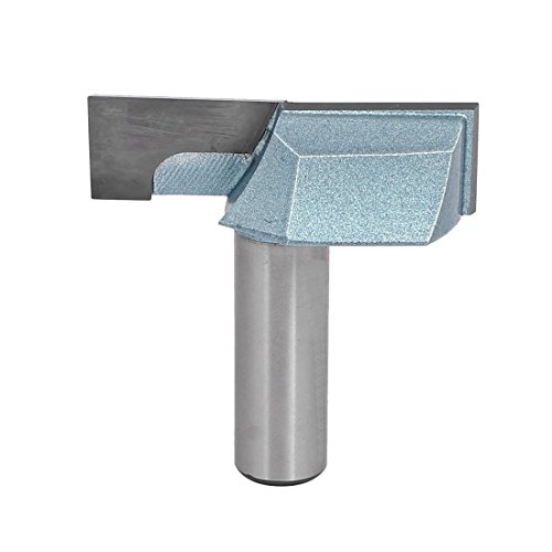 uxcell 1/2-Inch Shank 2-Inch Cutting Dia Double Flute Carbide Tipped Cleaning Bottom Router Bit Cutter (Carbide Tipped Router Bit)