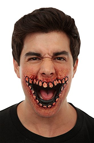 Prosthetic Mouth Of Teeth Evil Grin ()