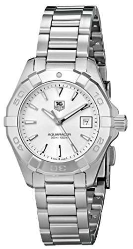 TAG Heuer Womens WAY1411.BA0920 Aquaracer Analog Display Analog Quartz Silver Watch