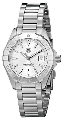TAG Heuer Womens WAY1411.BA0920 Aquaracer Analog Display Analog Quartz Silver Watch