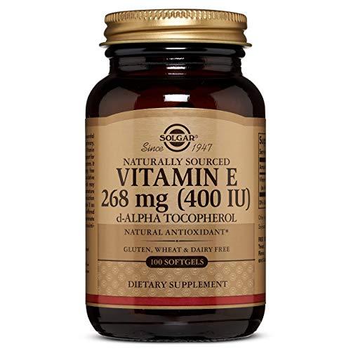 Solgar Vitamin E 268 MG (400 IU) Alpha Softgels, 100 Count (Pack of 1)