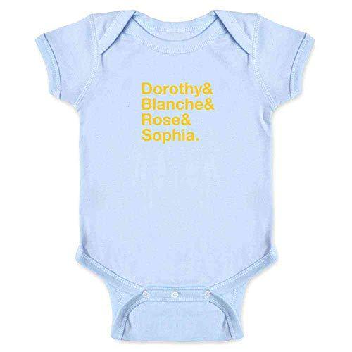 Pop Threads Dorothy & Blanche & Rose & Sophia. Light Blue 24M Infant Bodysuit